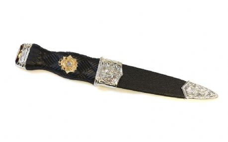 Scottish Transport Regiment | A one-piece safety sgian dubh in the formal dress design, featuring the Scottish Transport Regiment cap badge. This sgian dubh has no blade and can be shipped worldwide.